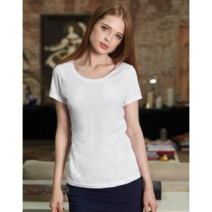 TW047 B&C Inspire Slub T-shirt donna fashion in 100% cotone organico fiammato no label 120gr Thumbnail
